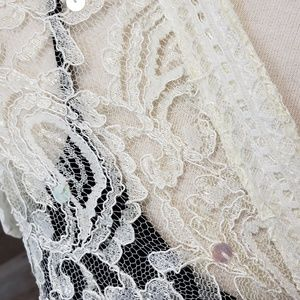 Claudia Richard Tops - NWT Lace Crinkle Blouse